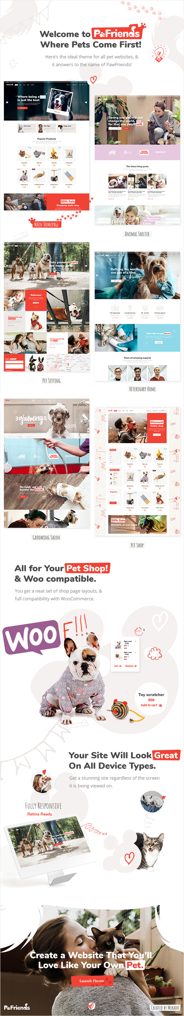 PawFriends - Pet Shop and Veterinary Theme - 1